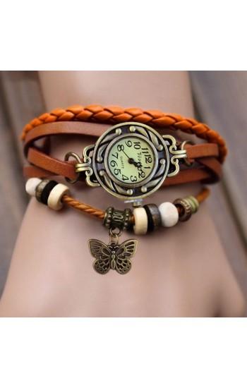Часы винтаж женские с бабочкой