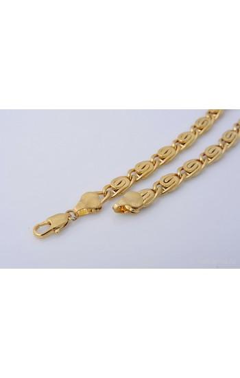 Позолоченный мужской браслет