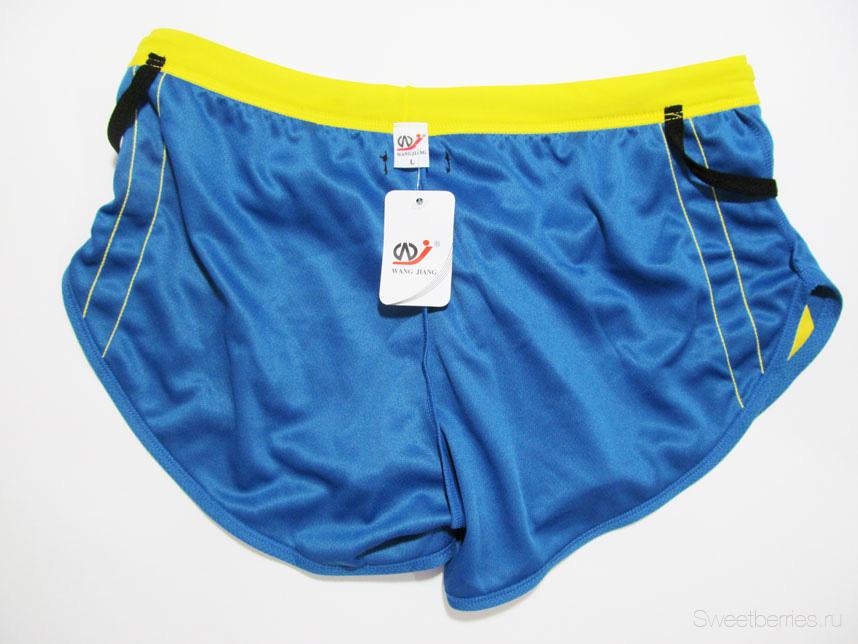 шорты голубого цвета