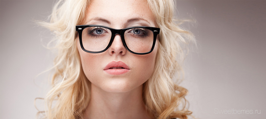 Очки модные прозрачные